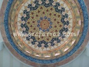 Kaligrafi Kubah Dalam Masjid Farraz Art