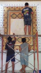 kaligrafi dinding sebagai interior